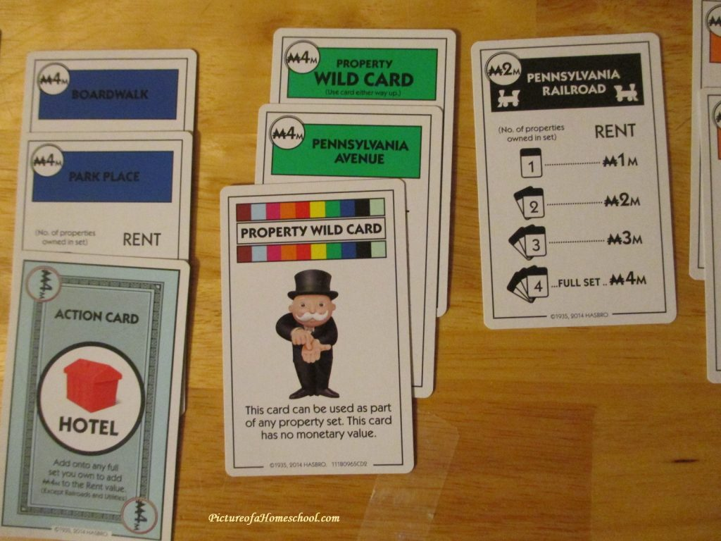 Monopoly Deal game cards