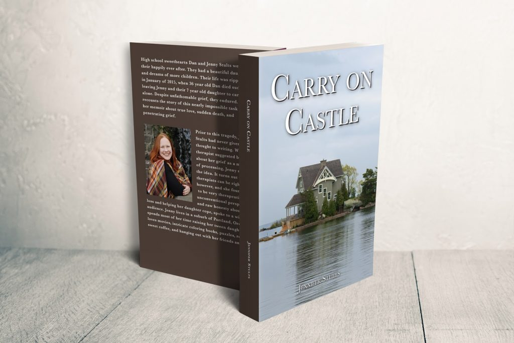 Carry on Castle book cover about death of a husband