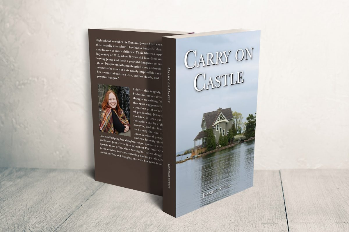 Carry on Castle book cover about death of a husband grief