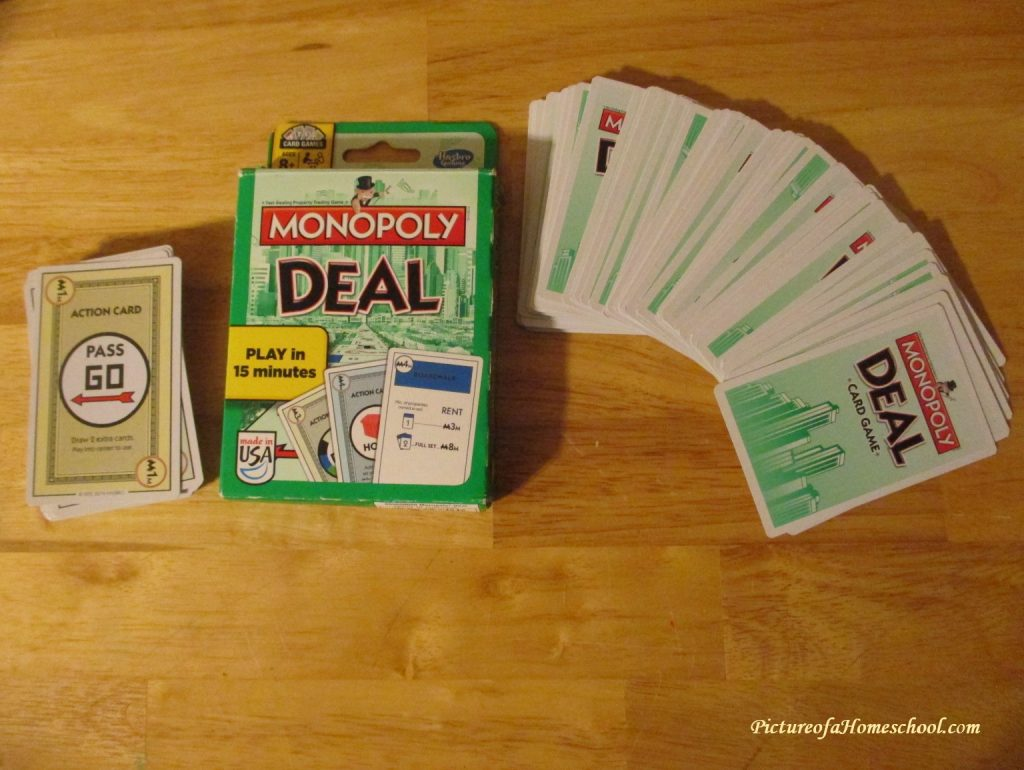 Game Review of Monopoly Deal by Hasbro Gaming