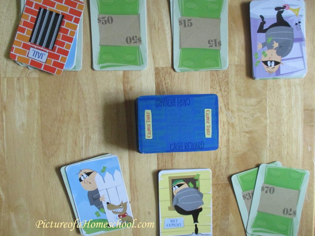 Clumsy Thief math card game