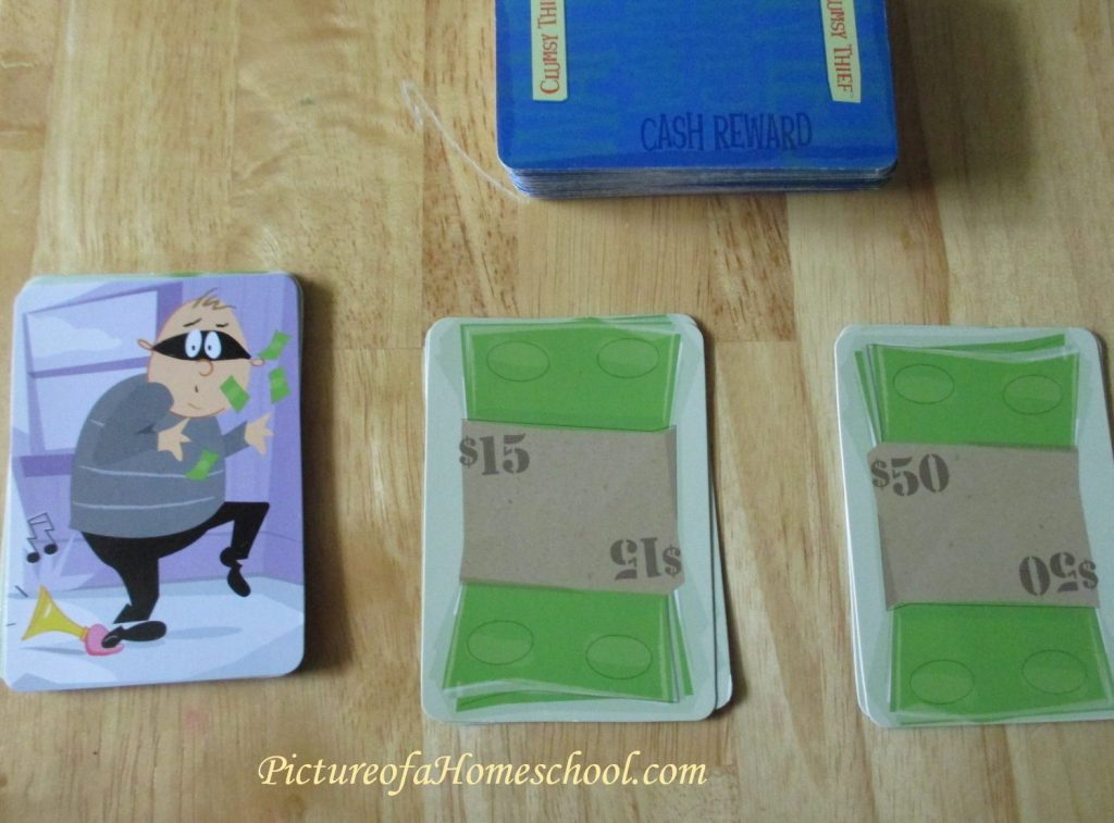Clumsy Thief math cards