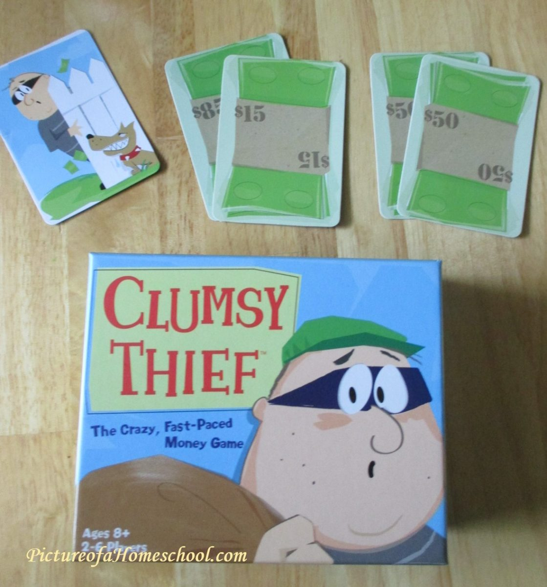 Clumsy Thief cover and card math game